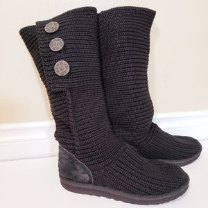 Ugg Black Classic Cardy Boots